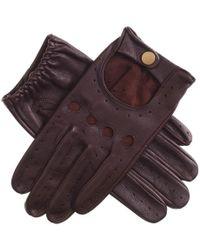 Black.co.uk - Men's Cognac Leather Driving Gloves - Lyst