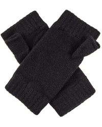 Black.co.uk - Ladies Black Fingerless Mittens - Lyst