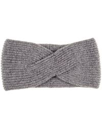 Black.co.uk - Grey Cashmere Headband - Lyst