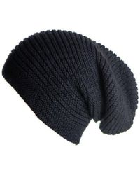 Black.co.uk - Black Cashmere Slouch Beanie Hat - Lyst