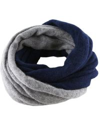 Black.co.uk - Navy And Warm Grey Cashmere Knit Snood - Lyst