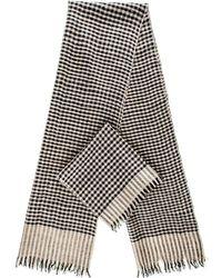 Black.co.uk - Black And Biscuit Check Superfine Cashmere Cravat Scarf Set - Lyst