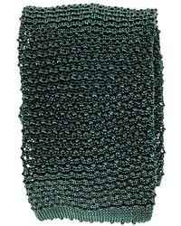 Black.co.uk - Green Italian Silk Knitted Tie - Lyst