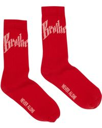 Blood Brother - Toby Socks In Red - Lyst