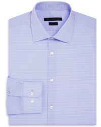 John Varvatos - Grid Regular Fit Stretch Dress Shirt - Lyst