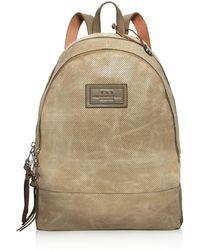 John Varvatos - Perforated Waxed Suede Backpack - Lyst