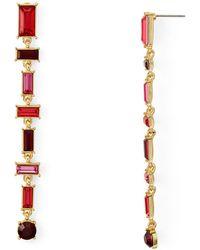 Aqua - Baguette Linear Drop Earrings - Lyst