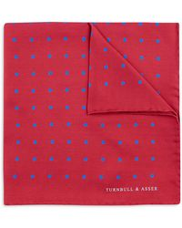 Turnbull & Asser - Basic Colour Dots Pocket Square - Lyst