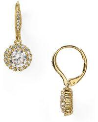 Nadri - Framed Round Cubic Zirconia Drop Earrings - Lyst