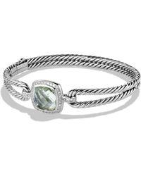 David Yurman - Albion Bracelet With Prasiolite And Diamonds - Lyst