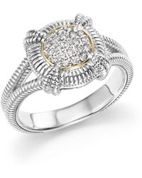 Judith Ripka - 18k Yellow Gold And Sterling Silver Fontaine Pavé Diamond Ring - Lyst