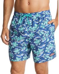 Vineyard Vines - Marlin & Floral-print Swim Trunks - Lyst