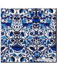 Turnbull & Asser - Floral Pocket Square - Lyst