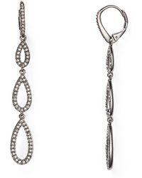 Nadri - Pavé Teardrop Earrings - Lyst