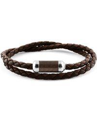 Tateossian - Woven Leather Bracelet - Lyst