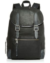 John Varvatos - Militia Waxed Canvas Backpack - Lyst