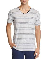 Daniel Buchler - Lounge Striped Short-sleeve V-neck Tee - Lyst