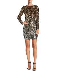 Dress the Population - Lola Long-sleeve Sequin Dress - Lyst