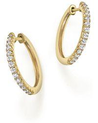 Bloomingdale's - Diamond Hoop Earrings In 14k Yellow Gold, .40 Ct. T.w. - Lyst