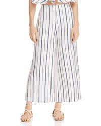 Aqua - Helen Owen X Striped Cropped Wide - Leg Trousers - Lyst