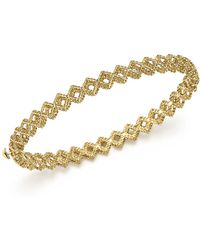 Roberto Coin - 18k Yellow Gold New Barocco Crisscross Bangle - Lyst