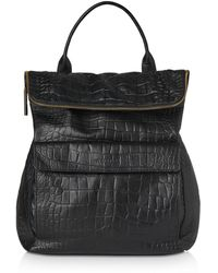 Whistles - Verity Croc-embossed Leather Backpack - Lyst