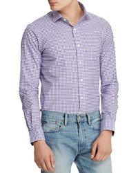 27f2c067bf Polo Ralph Lauren Striped Poplin Shirt in Purple for Men - Lyst