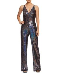 Dress the Population - Charlie Sequined Jumpsuit - Lyst