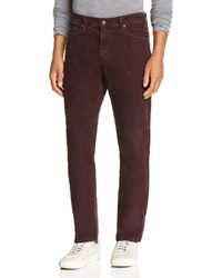 AG Jeans - Everett Slim Fit Corduroy Jeans In Sulfur Rich Carmine - Lyst