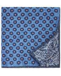 Bloomingdale's - Circle Medallion Wool Pocket Square - Lyst