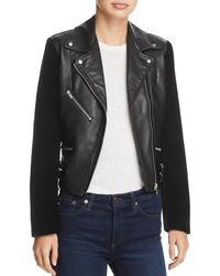 VEDA - Puzzle Leather And Velvet Jacket - Lyst