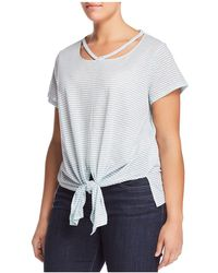 Lucky Brand - Striped Tie-waist Tee - Lyst