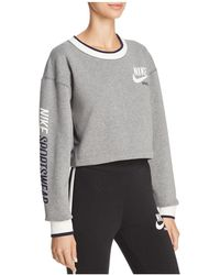 Nike - Reversible Cropped Sweatshirt - Lyst