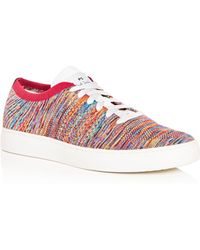 Paul Smith - Men's Doyle Multistripe Knit Lace Up Sneakers - Lyst