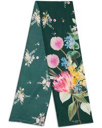 971a79e072e17 Ted Baker - Vivana Flourish Floral Silk Skinny Scarf - Lyst