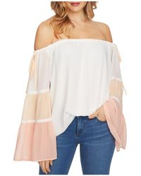 1.STATE - Color-block Off-the-shoulder Top - Lyst