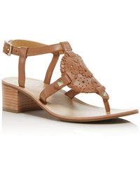 Jack Rogers - Women's Gretchen Leather Block Heel Sandals - Lyst