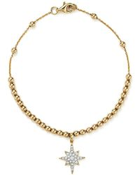 KC Designs - Diamond Starburst Bead Bracelet In 14k Yellow Gold - Lyst
