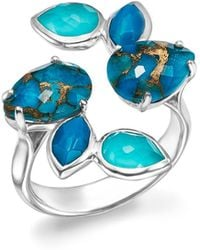 Ippolita - Sterling Silver Rock Candy® Mixed Turquoise And Doublet Bypass Ring - Lyst