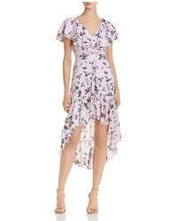 Aidan By Aidan Mattox - High/low Ruffled Chiffon Dress - Lyst