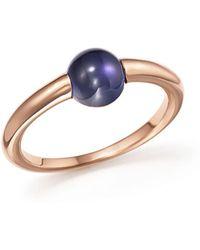 Pomellato - M'ama Non M'ama Ring With Iolite In 18k Rose Gold - Lyst