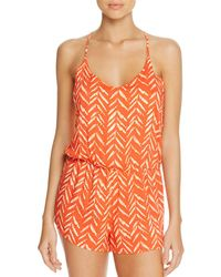 Dolce Vita - Beaded Back Romper Swim Cover-up - Lyst