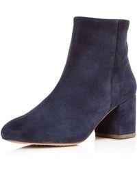 Splendid - Women's Daniella Suede Block Heel Booties - Lyst