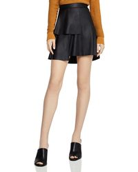 BCBGeneration - Ruffled Faux Leather Skirt - Lyst