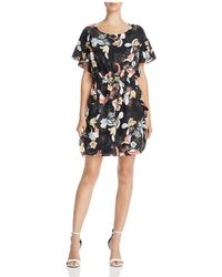 Cooper & Ella - Raquel Ruffled Floral-print Shift Dress - Lyst