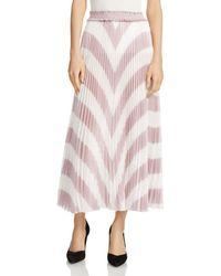 Maje - Joro Pleated Striped Skirt - Lyst