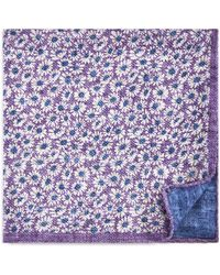 Bloomingdale's - Daisy Reversible Pocket Square - Lyst