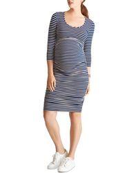 Ingrid & Isabel - Maternity Stripe-print Shirred Dress - Lyst