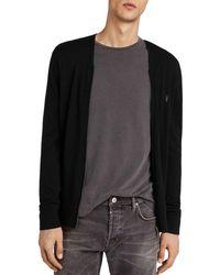 AllSaints - Mode Merino Zip Cardigan - Lyst