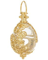Temple St. Clair - 18k Yellow Gold Lattice Rock Crystal & Diamond Amulet Pendant - Lyst